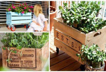 Dicas – Como reutilizar caixotes na decoração