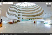 Espaço interno do Guggenheim no Google
