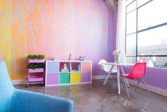 Esse apartamento é um arco-íris